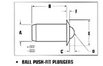 Pushfit Ball Plunger - Steel-PFB47